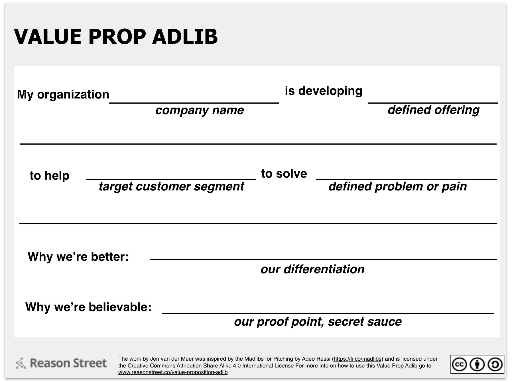 Value Prop Adlib